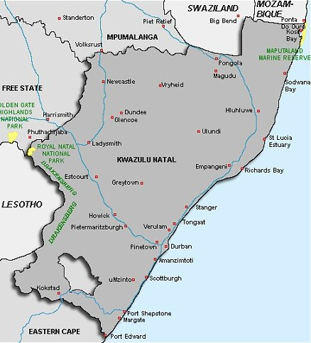map of south africa provinces. About South Africa - Provinces