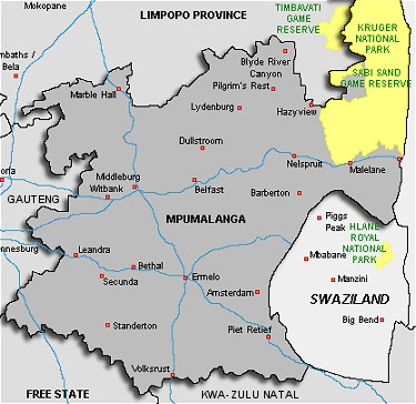About South Africa   Mpumalanga Maps